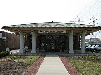 Dempster–Skokie station - Image: Dempster Street Station