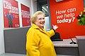 Denise Robertson opens Durham railway station information office 1.jpg