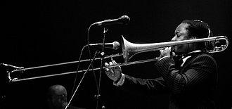 Dennis Rollins - Rollins with trombone, 2008