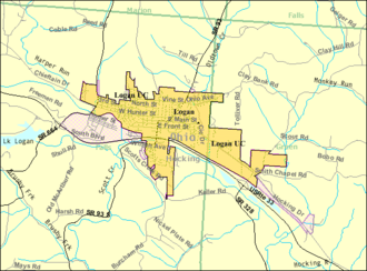 Logan, Ohio - Image: Detailed map of Logan, Ohio