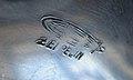 Deutsche Zeppelinreederei - Luftschiffbau Zeppelin - Großer Teller aus dem Service eines Luftschiffes - Gefertigt aus Aluminium - Gestempelt mit Zeppelin und Schriftzug Zeppelin 5.jpg