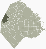 Location of Villa Devoto within Buenos Aires
