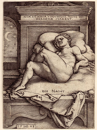 Die Nacht - Night by Sebald Beham (1548) 108 x 78 mm. Die Nacht - Night.jpg