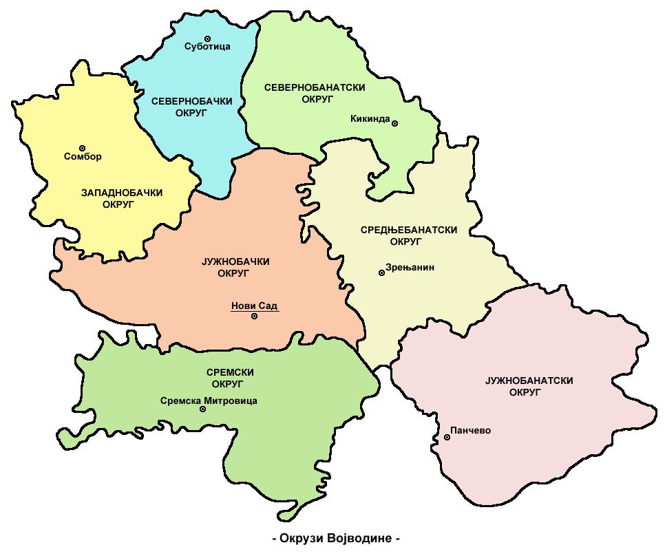 Districts Vojvodina