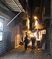 Diyarbakir old city alley at night.JPG