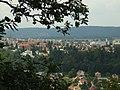 Dolní Břežany, Závist, pohled na sídliště na Zbraslavi.JPG