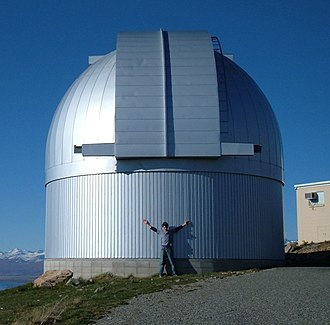 Microlensing Observations in Astrophysics - The Microlensing Observations in Astrophysics (MOA) telescope dome at the top of Mount John