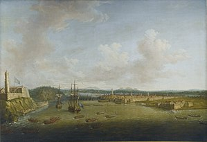 Dominic Serres - The Capture of Havana, 1762, Taking the Town, 14 August.jpg