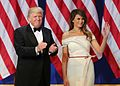 Donald and Melania Trump at Armed Services Ball 01-20-17.jpg