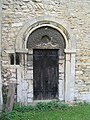 Door with tympanum. Church of St Medard and St Gildard, Little Bytham - geograph.org.uk - 176179.jpg