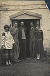 Dora Carrington; Ralph Partridge; Lytton Strachey; Oliver Strachey; Frances Catherine Partridge (née Marshall), 1923.jpg