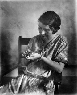Doris M. Cochran Holding Frog, Image ID 96-956.tif