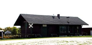 Historic Downing railroad depot