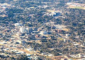 Lafayette, Louisiana - Downtown Lafayette from the air