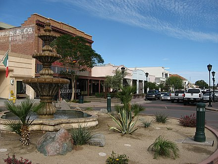 Downtown Yuma with a Mexican Consulate on the left. Downtown Yuma Arizona (3).jpg