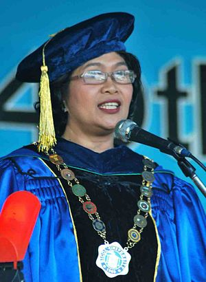 Bicol University - Dr. Fay Lea Patria M. Lauraya, the 7th President of the University