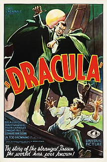 <i>Dracula</i> (1931 English-language film) 1931 American English-language horror film directed by Tod Browning