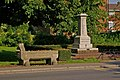 Drinking trough and War Memorial - geograph.org.uk - 864874.jpg