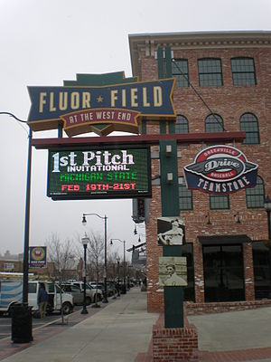 Greenville Drive - Image: Drivewelcomesign