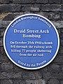 Druid Street Arch Bombing. On October 25 1940 a bomb fell through the Railway Arch.jpg