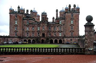 Drumlanrig Castle castle in Dumfries and Galloway, Scotland, UK
