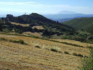 Castelltallat range - Castelltallat range with Montserrat, located south, in the background