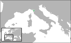 The Duchy of Lucca (green).