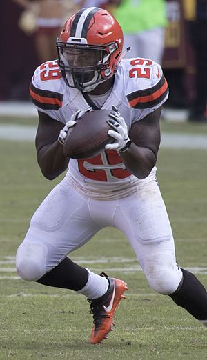 Duke Johnson - Johnson with the Cleveland Browns in 2016