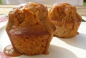 Dulce de leche - Muffins with dulce de leche sauce