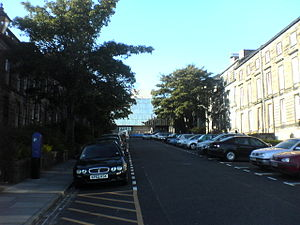 Dundee University Students' Association - The present Students' Association building (top centre) and the university's Airlie Place