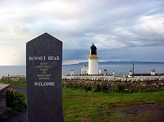 """Extreme points of Scotland - """"Most northerly point of mainland Britain."""""""