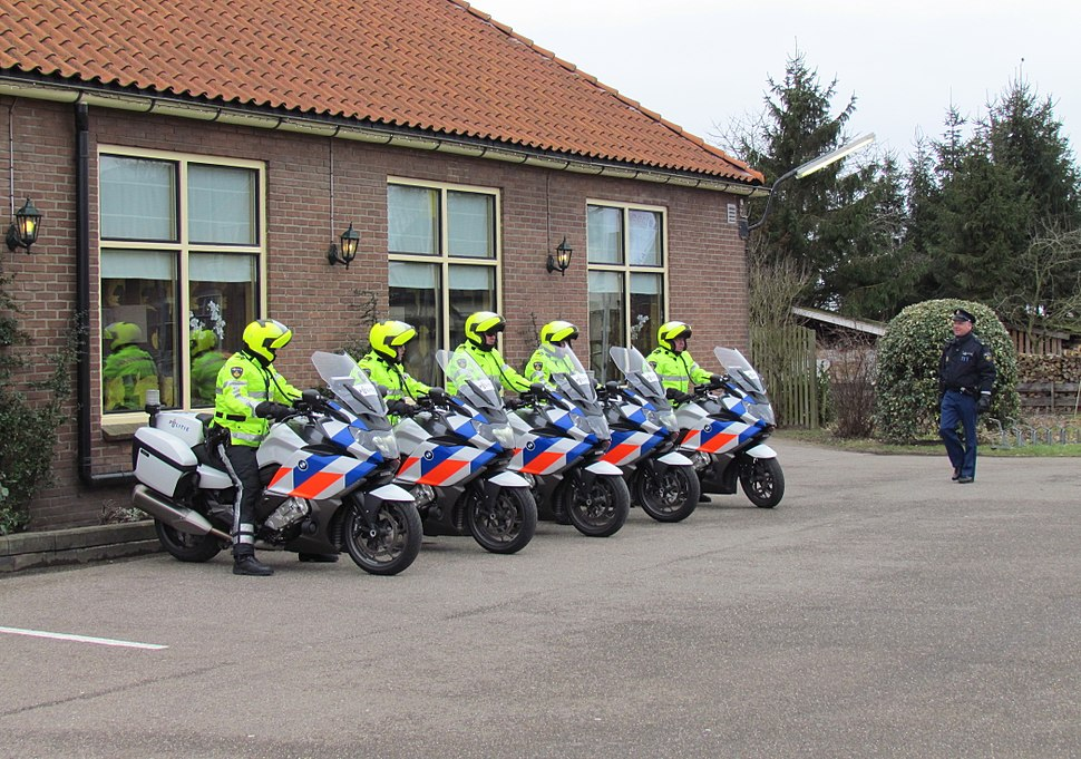 Dutch police on motorcycles