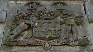 Earl of Seafield - Arms of the Earl of Seafield at the Grant Mausoleum, Duthil