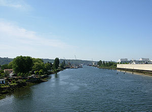 Duwamish River - The Duwamish at South Park, Seattle