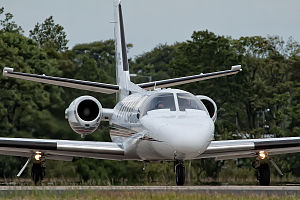 Cessna Citation II - Front view of a model 551 Citation II/SP