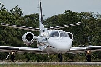 Cessna Citation II - Front view of a model 551 Citation II/SP