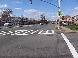 East Elmhurst, Queens - Astoria Boulevard, a wide boulevard that serves East Elmhurst