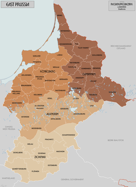 Map of East Prussian Districts in 1945 EastPrussiaMap1944.png