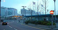 East Croydon Railway Station - England - Station Frontage - Evening - 270404