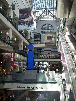 Montreal Eaton Centre - Atrium of Montreal Eaton Centre