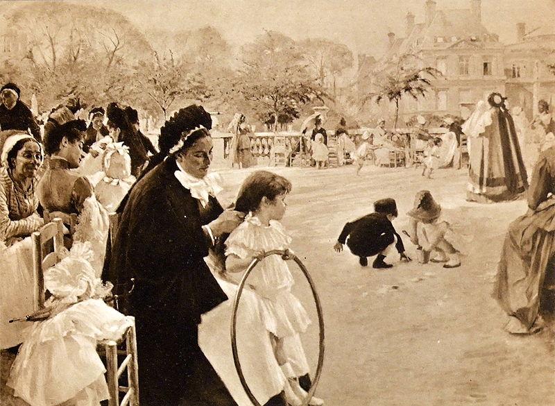 Tiedosto:Edelfelt Luxembourg Garden 1887.JPG
