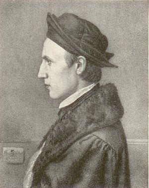 Eduard von Steinle - Eduard Jakob von Steinle (1810-1886), lithograph by V. Schertle (1846)