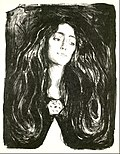"""The Brooch, Eva Mudocci"" by Edvard Munch"