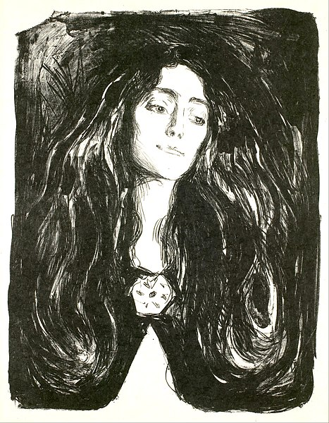 Ficheiro:Edvard Munch - The Brooch. Eva Mudocci - Google Art Project.jpg