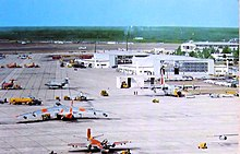 Eglin AFB aircraft parking apron during 1964.