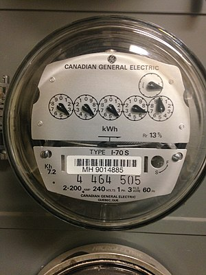 Electricity retailing - Image: Electric meter