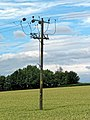 Electricity utility pole at Greenhill, Hatfield Broad Oak, Essex England.jpg