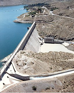 Elephant Butte Dam New Mexico Place listed on National Register of Historic Places