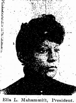 Ella Mahammitt - Photo from the Enterprise, April 4, 1896