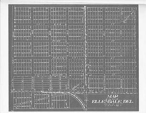 Ellendale, Delaware - Ellendale as surveyed in 1906